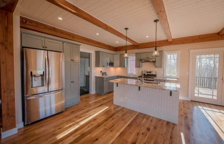 Overlook Yankee Barn Homes House Plans Lake House Kitchen Yankee Barn Homes