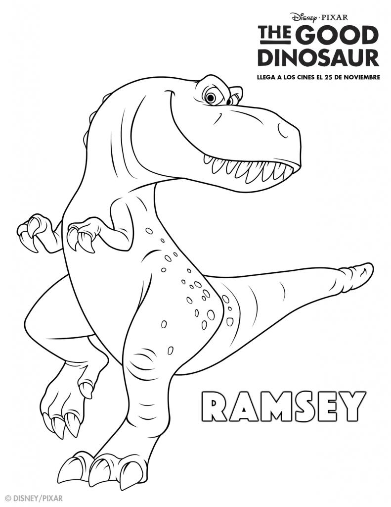 The Good Dinosaur Coloring Pages Gooddino Printables Pinterest