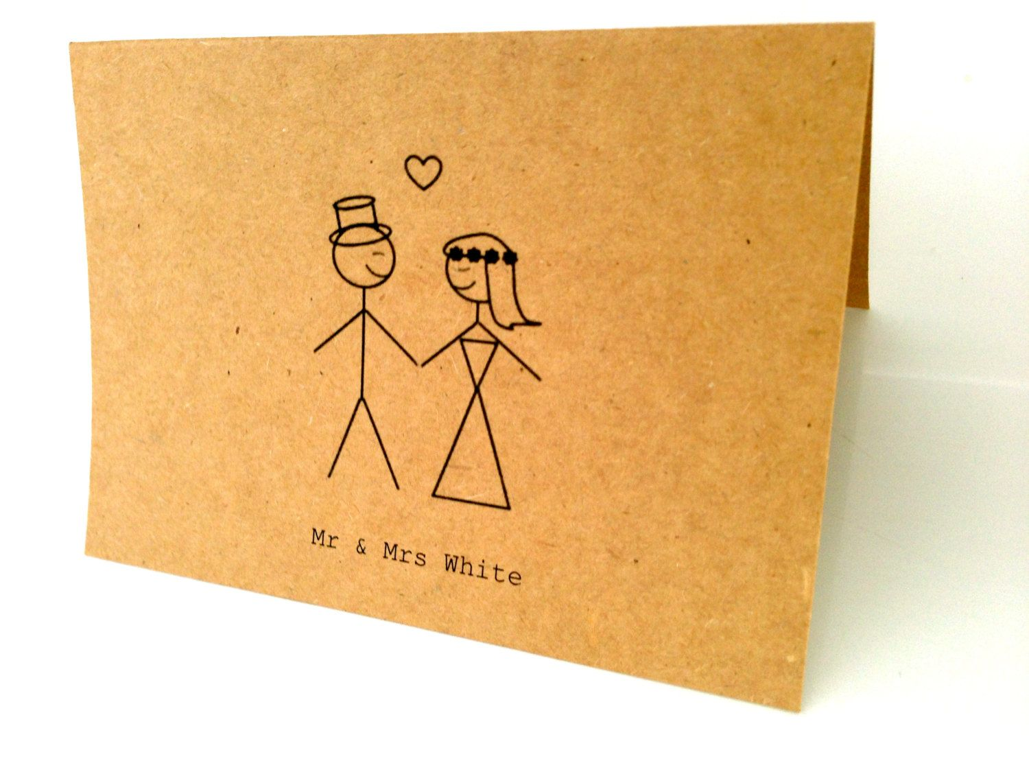 Stick Figure Wedding Invitations: 20 Customised Wedding/Engagement Thank-you Cards