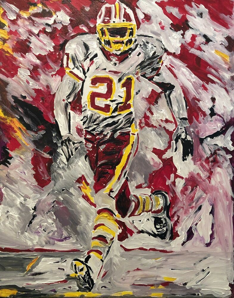 "24997a68 Details about Beautiful ""Sean Taylor"", Original Canvas Painting HTTR ..."
