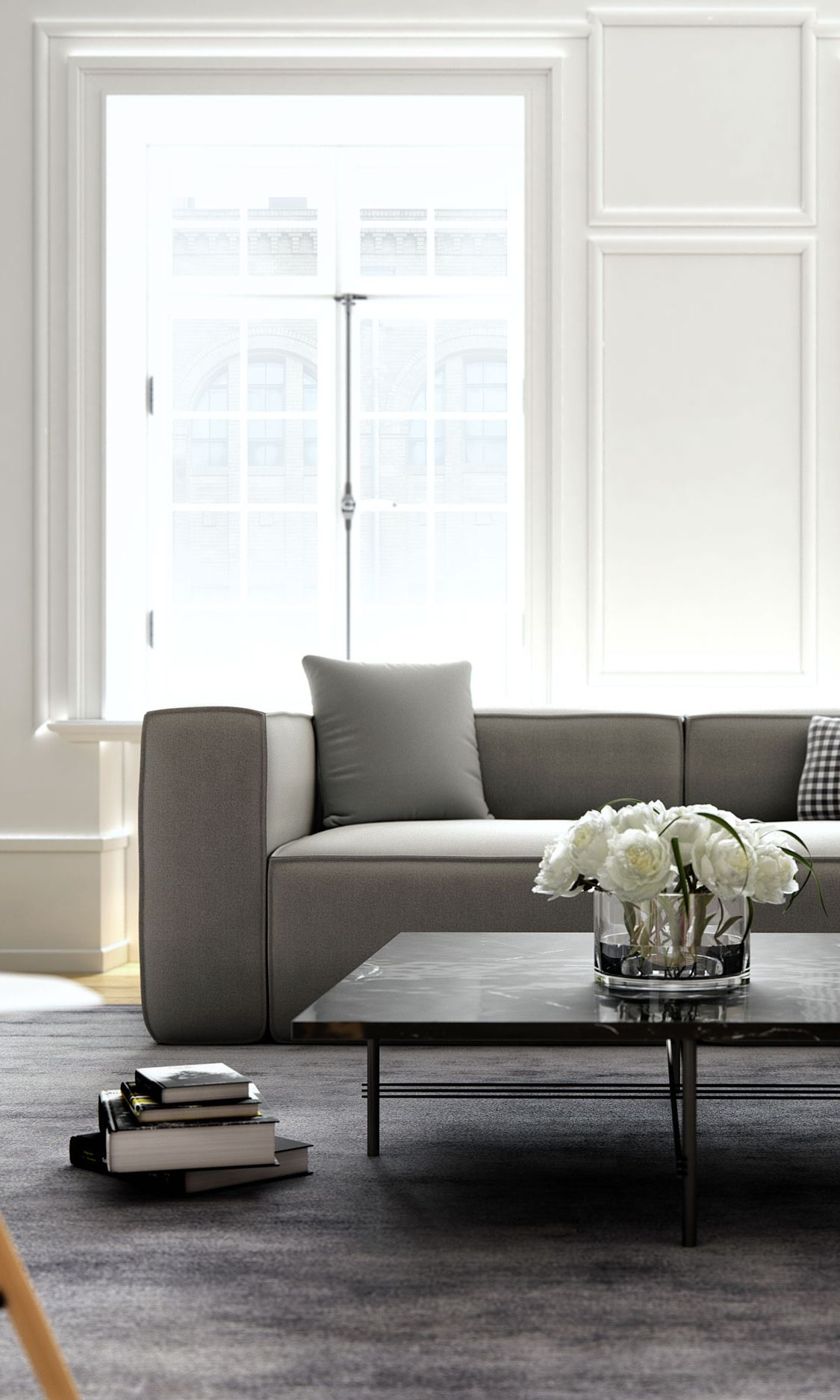 Easy to appreciate, the Marlowe Sofa in Pebble Weave Stone | SANDRO ...