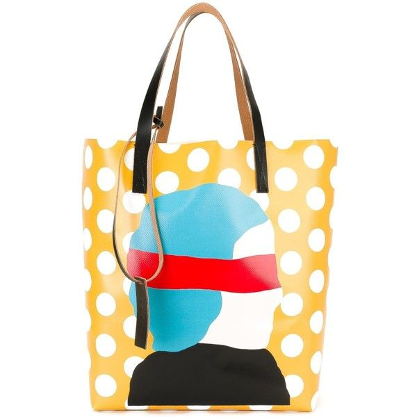 Marni Ekta print shopper tote (€335) ❤ liked on Polyvore featuring bags, f4af86b9f6