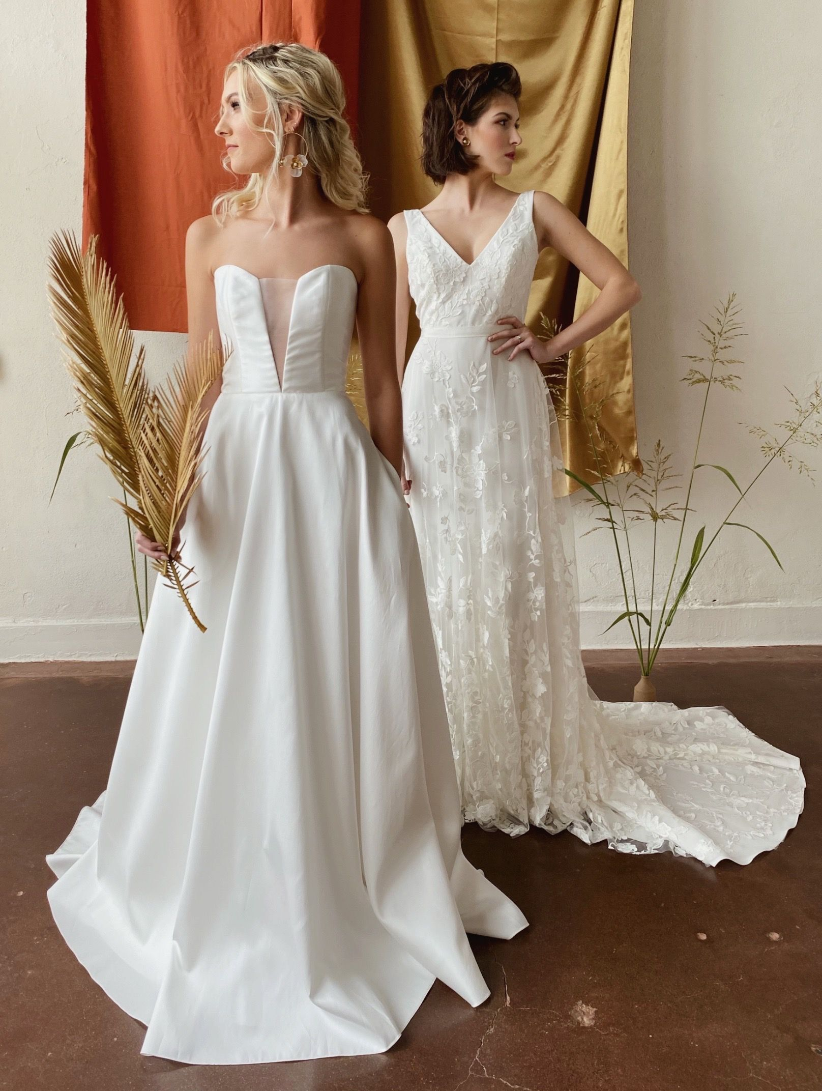 Remi By Anais Anette Willow With Overskirt By Anais Anette Bryde Bridal Shop Tulsa Oklahoma In 2020 Wedding Dresses Strapless Wedding Gown Minimal Wedding Dress