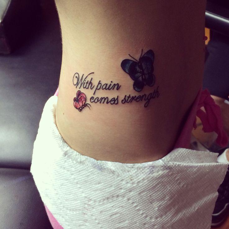 With pain comes strength with pain comes strength for With pain comes strength tattoo
