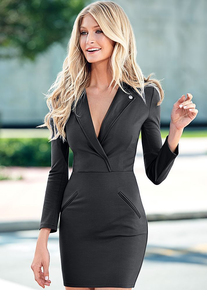 Awesome Semi Formal Dresses Faux Leather Trim Dress In The Venus