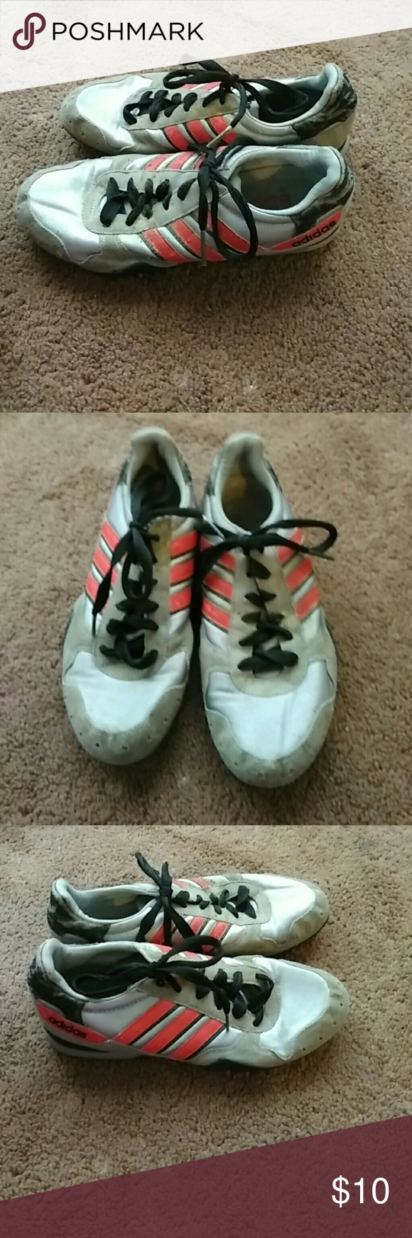 Preloved Adidas Running shoes Grey,black,red Adidas Shoes Sneakers