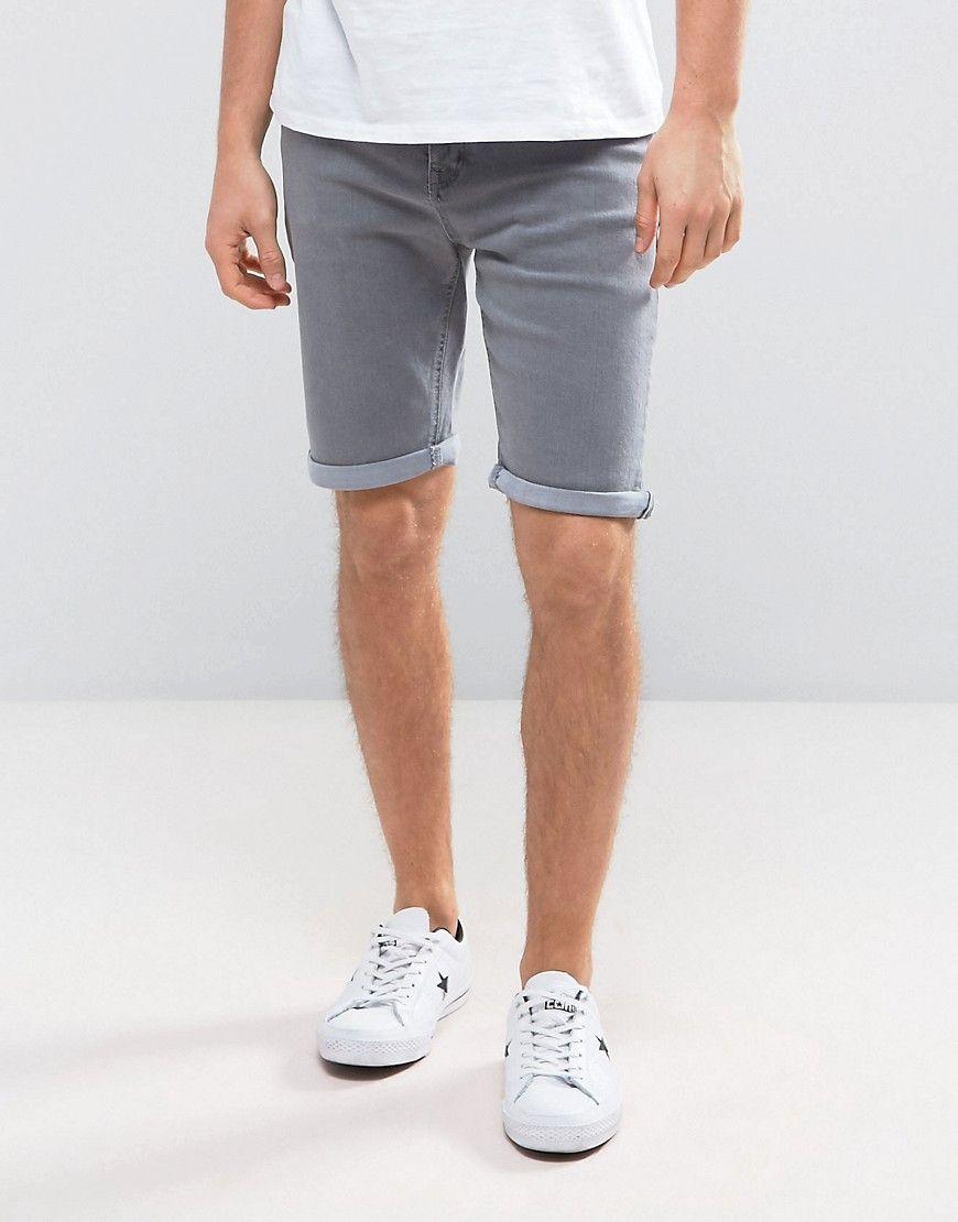 1c5523b019 New Look Slim Denim Shorts In Gray | Pinterest | Products
