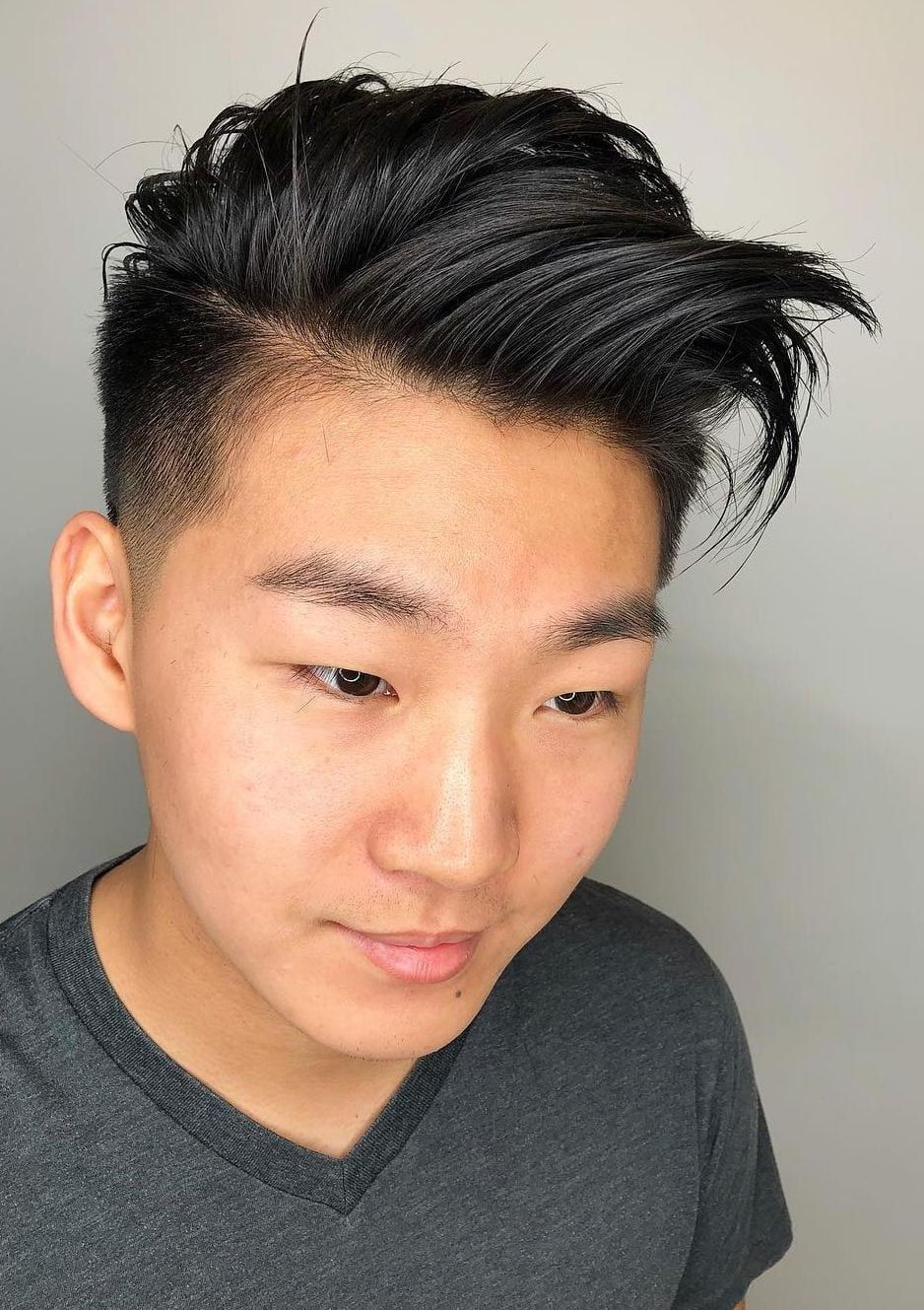 The Closest Asians Can Get To A Top Fade In 2020 Asian Hair Asian Men Hairstyle Side Swept Hairstyles
