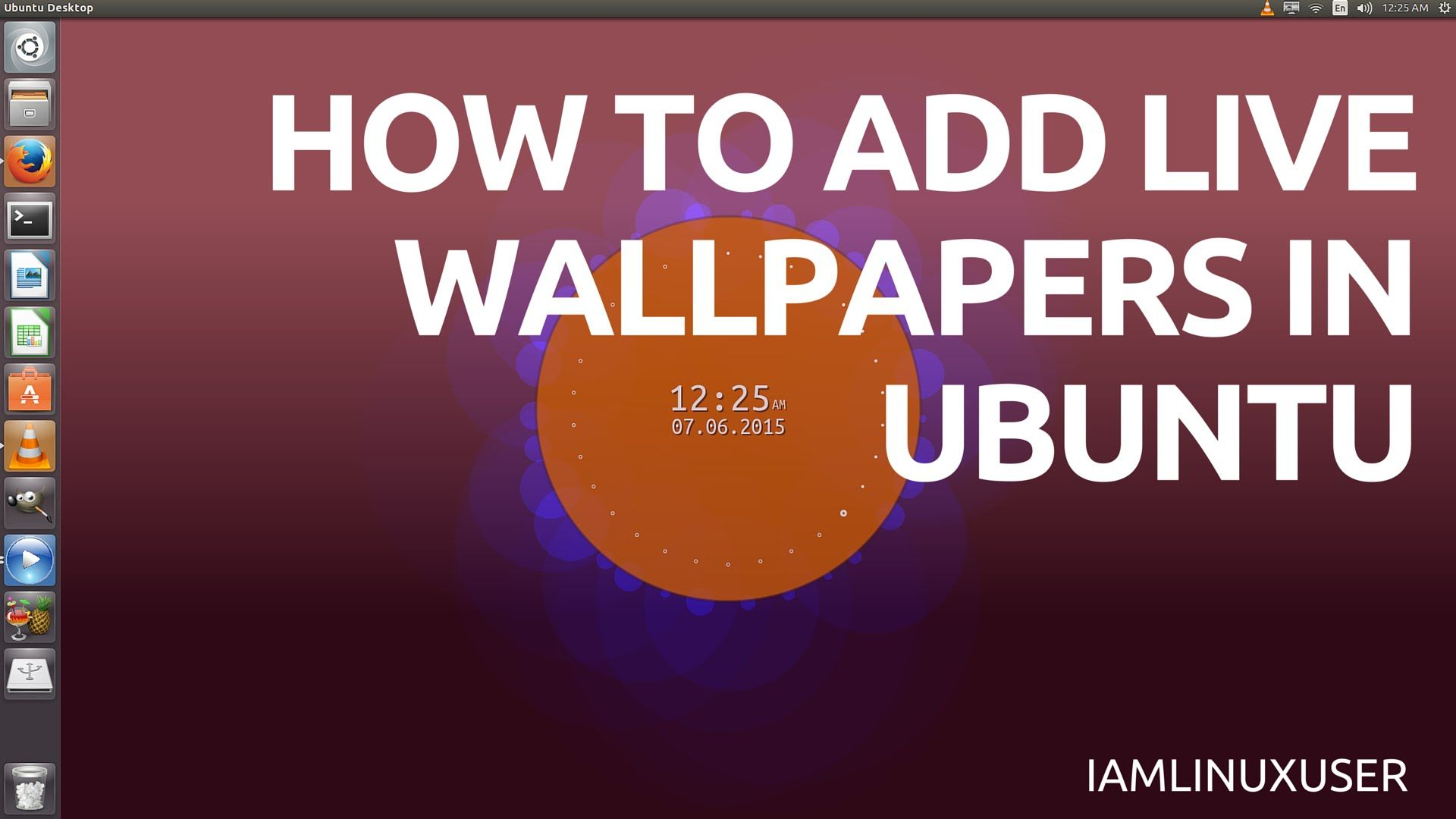how to add live wallpapers in ubuntu i am linux user