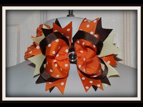 How To Make An Easy Boutique Style Hair Bow Tutorial Youtube Hair Bows Thanksgiving Hair Bows Diy Hair Bows