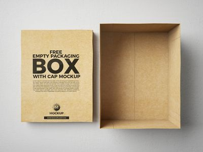 Download Free Packaging Box With Cap Mockup Psd Box Mockup Packaging Mockup Free Boxes