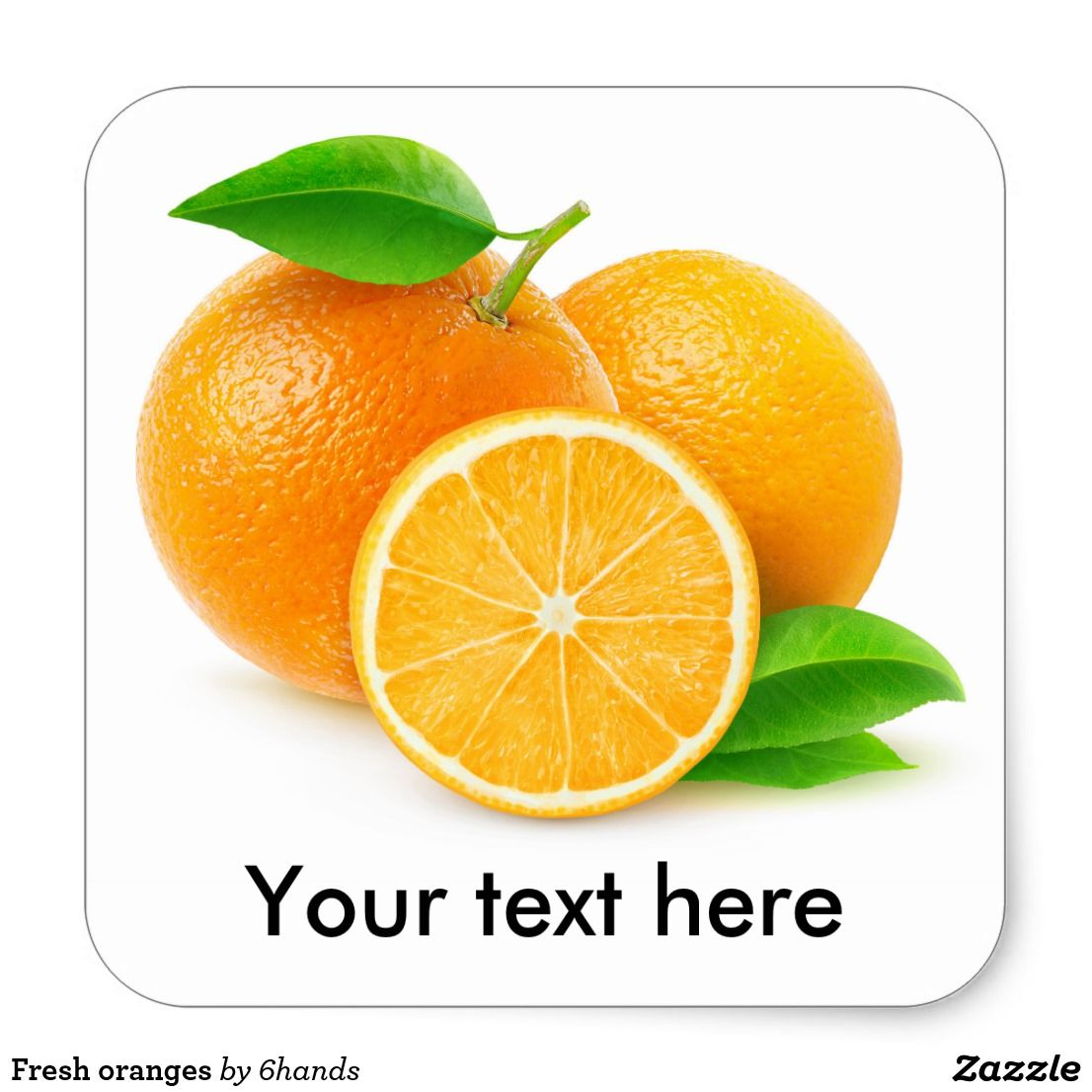 Fresh oranges square sticker custom stickers with beautiful fruits and vegetables for scrapbooking kids activities and diy projects zazzle