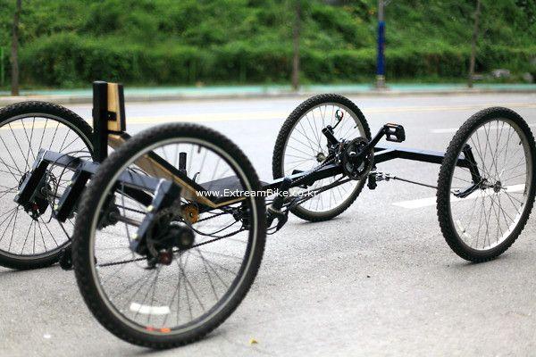 4륜 자전거 나만을 위한 수제 리컴번트 콰트론 자전거 장난감