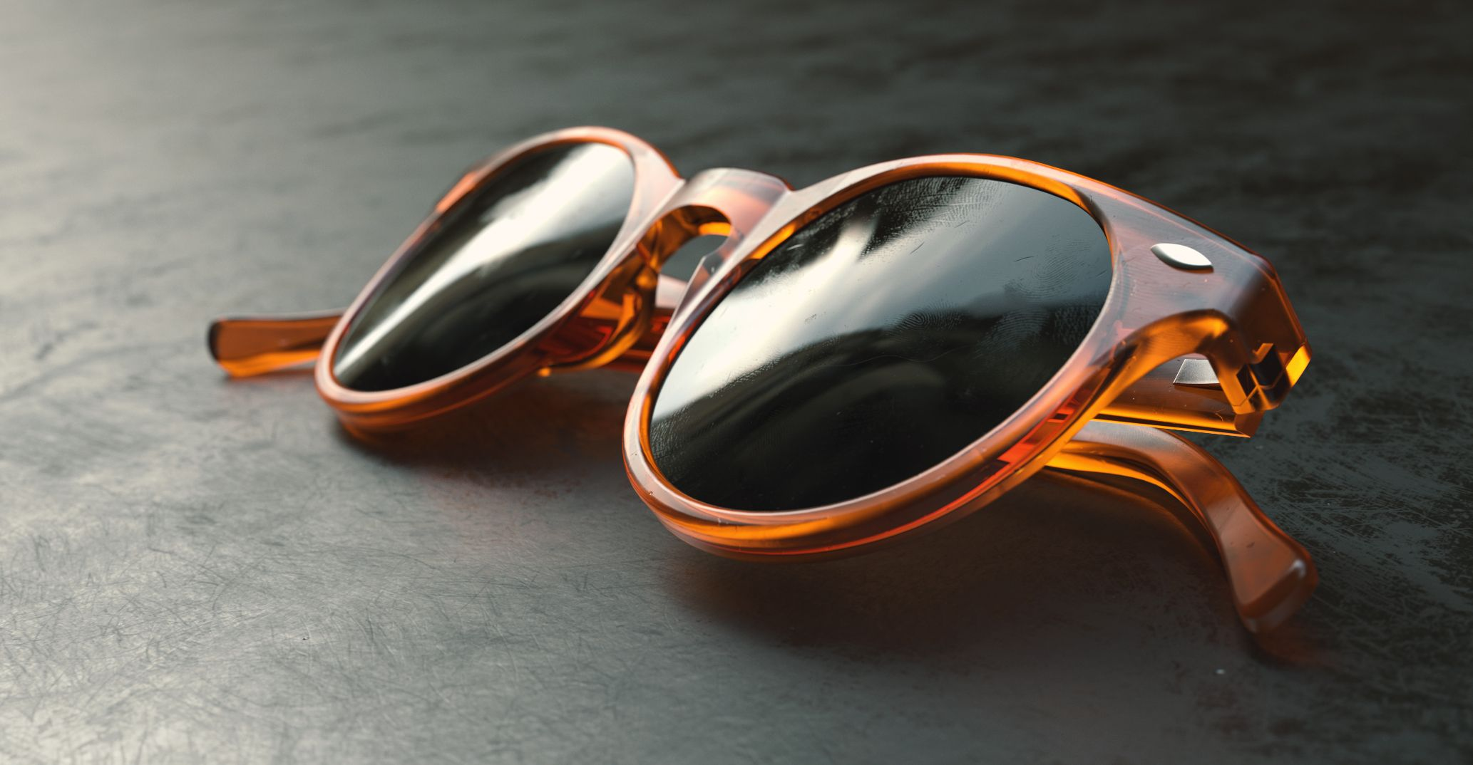 Sunglasses rendered in KeyShot by Mikael Prous using the