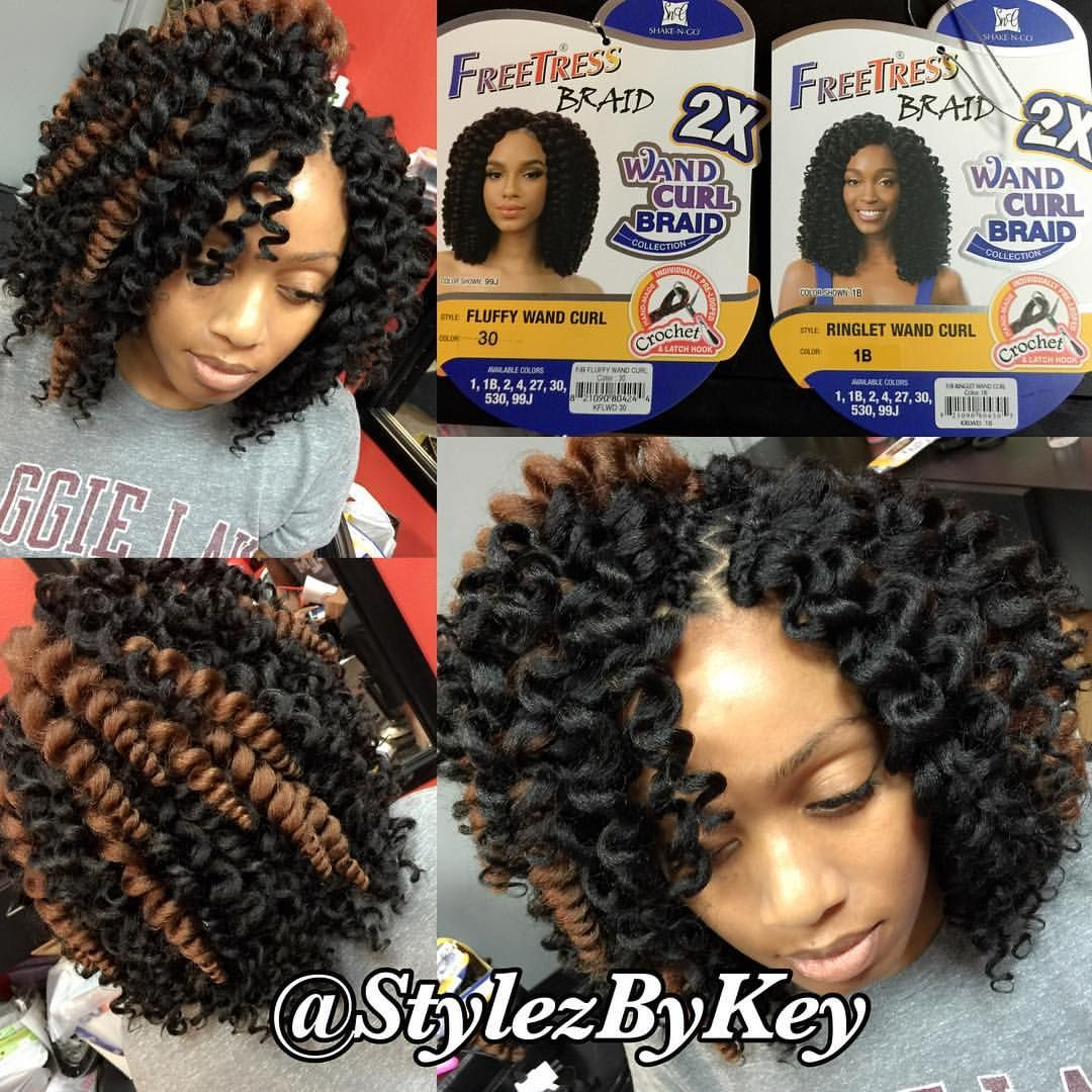 Freetress Wand Curls 4 Packs Needed Curly Crochet Hair Styles Crochet Hair Styles Crochet Hair Styles Freetress
