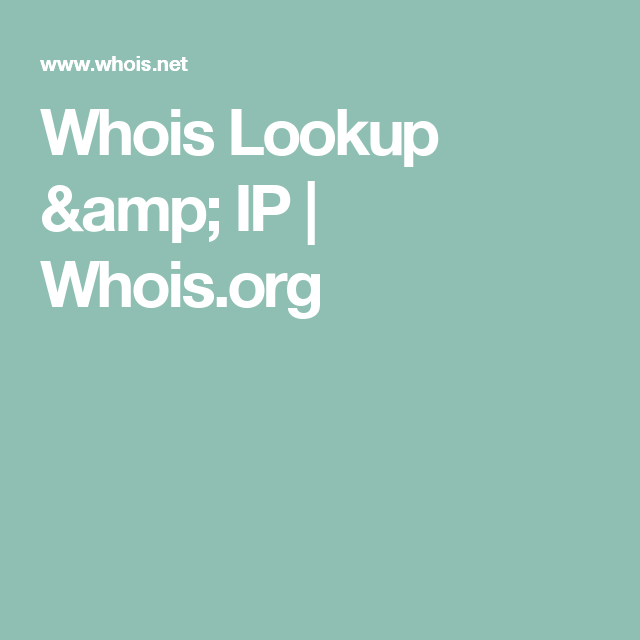 Whois Lookup Amp Ip Whois Org Name Search