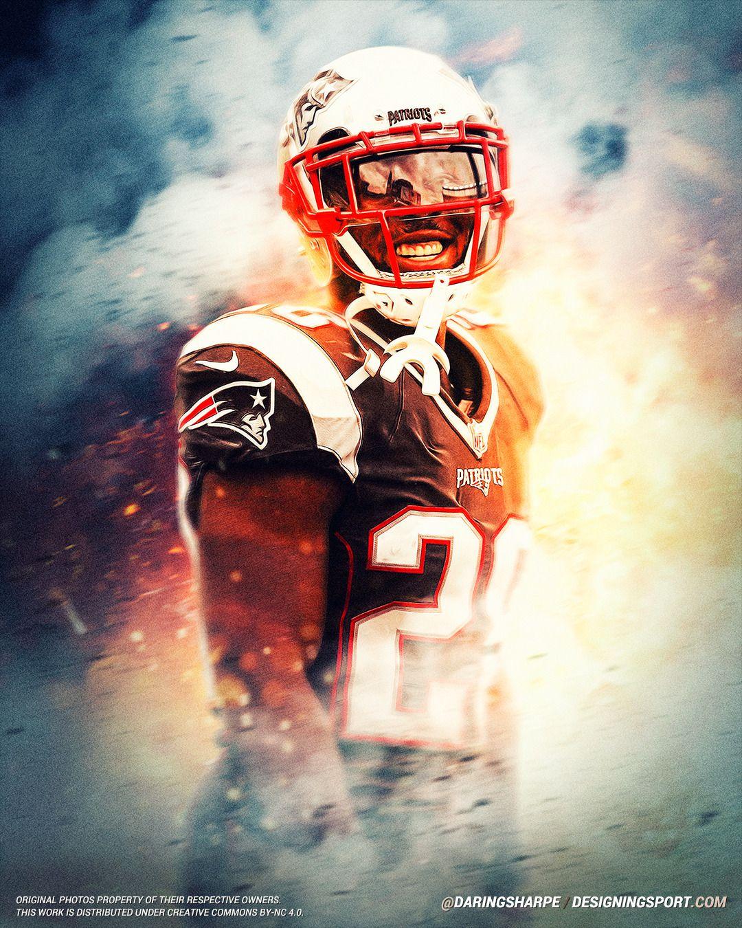 James White New England Patriots Sports Art New England Patriots James White