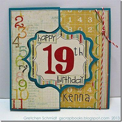 Happy 19th Birthday Card Tutorial cardmaking ideas – Happy 19th Birthday Cards