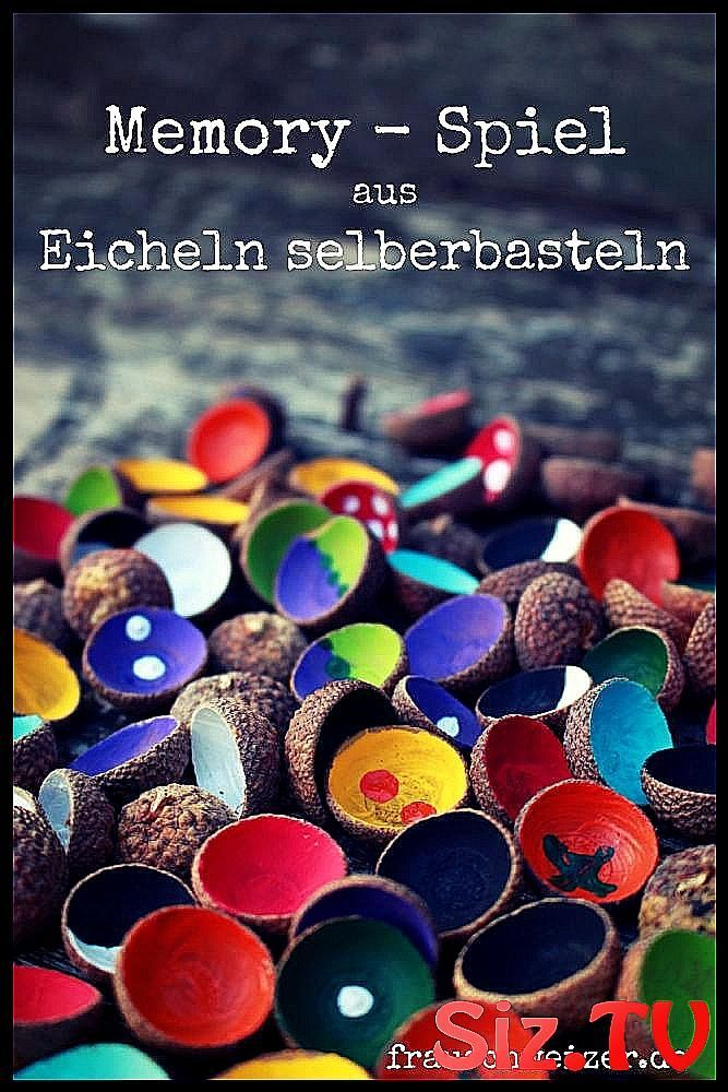 Basteln mit FrauenSchweizer Gedächtnisspiel aus Eichel #