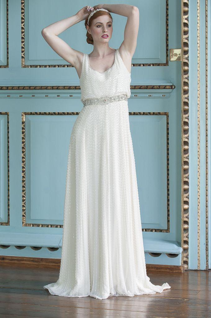 Jenny Packham Kathleen beaded dress, £3,460, jewelled headpiece, £70 ...