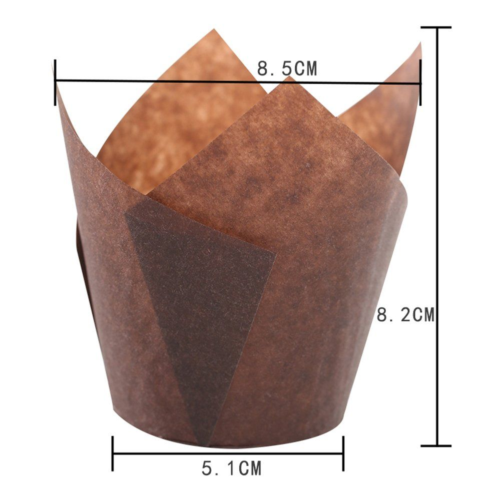 Sk Tulip Cupcake Liner Baking Cup Brown For Standard Size Cupcakes And Muffins Liners For Wedding Appx 200 Pc Brown Baking Cups Baking Tools Cupcake Liners
