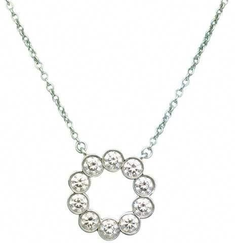 1a30faaad Tiffany & Co. Jazz Platinum 0.90tcw Diamond Circle Pendant Necklace  #finestnecklace