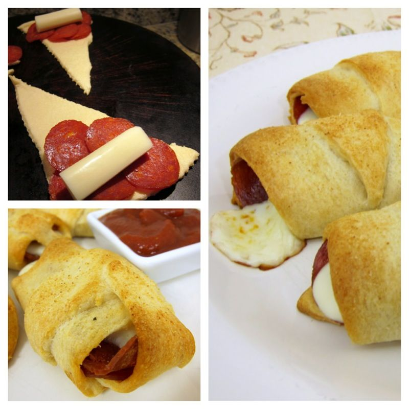 Easy crescent roll pizza pockets