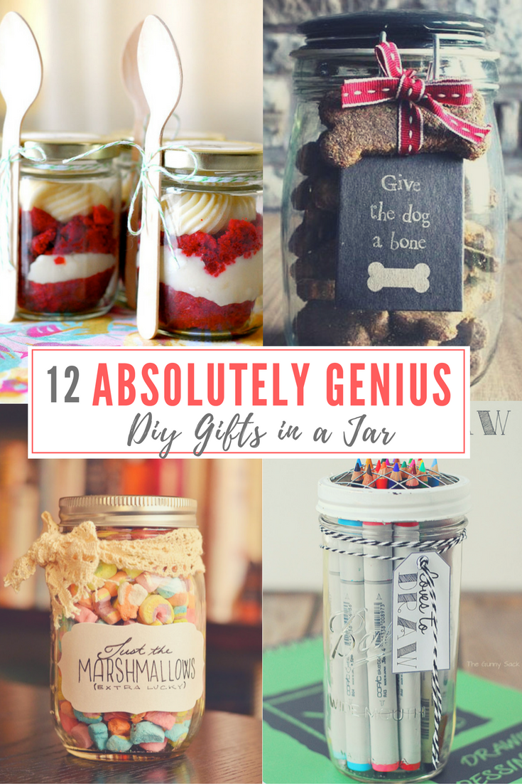 12 absolutely genius diy gifts in a jar gift craft and christmas 12 absolutely genius diy gifts in a jar solutioingenieria Image collections