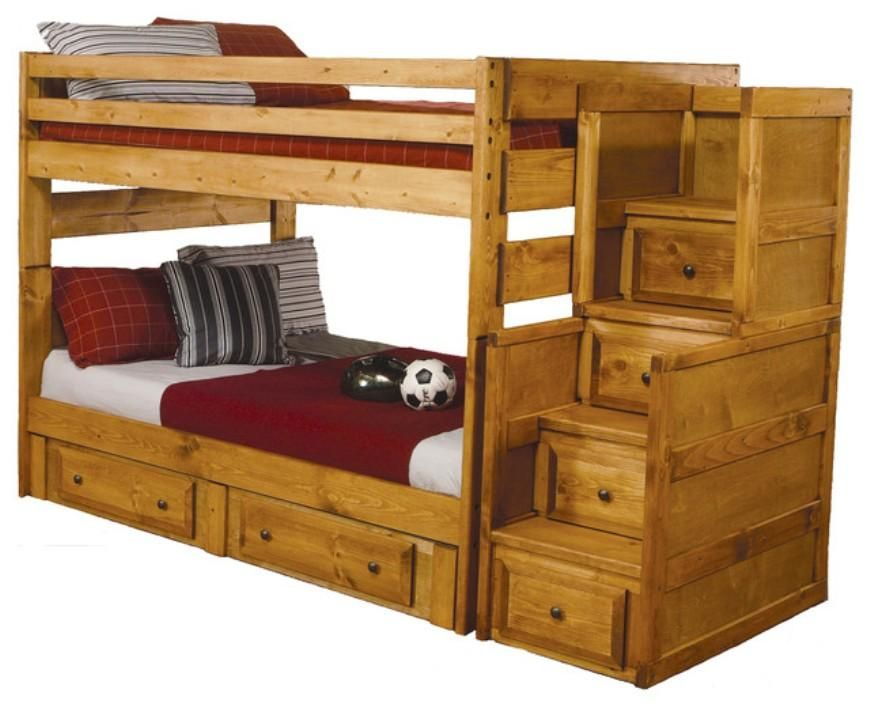 Solid Wood Bunk Beds Full Over Full Http Wooden Backtobosnia Com