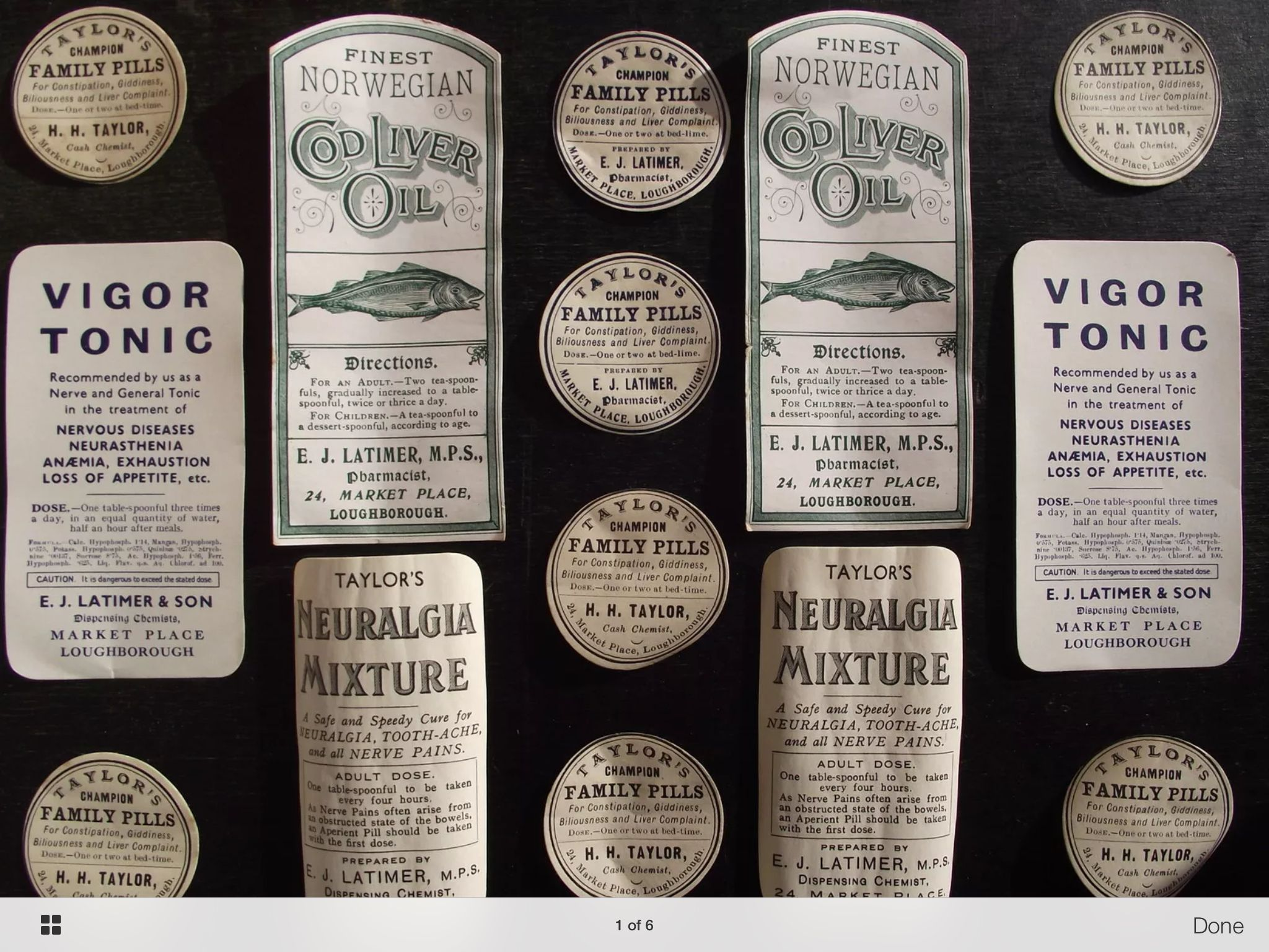 Victorian Apothecary Labels Vintage Jars Edwardian Period Labels