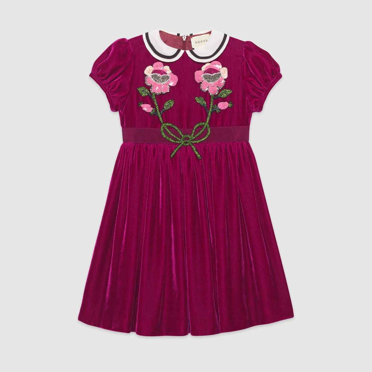 9483d285120f1 Children's velvet dress with sequin embroidery | Beauty and the ...