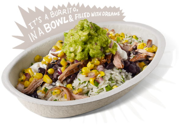 Burrito Bowls Cilantro Lime Rice Black Beans Carne Asada Corn Guacamole Sour Cream Yu Healthy Fast Food Lunch Fast Healthy Meals Chicken Bowl Recipe