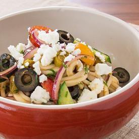 Greek Style Cold Noodle Salad
