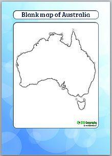 blank map of australia | outline map of australia | australia blank ...