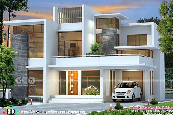 2151 Square Feet Contemporary Residnece Duplex House Design Architectural House Plans Kerala House Design