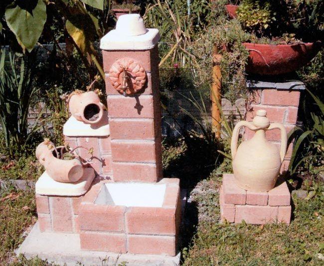 Fontana fai da te con autobloccanti giardino pinterest for Fontana presepe fai da te