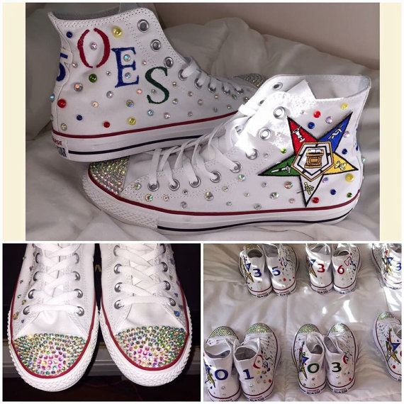 size 40 a8125 c90cb Order of Eastern Star custom Chuck Taylor by ClutchinPurlz on Etsy