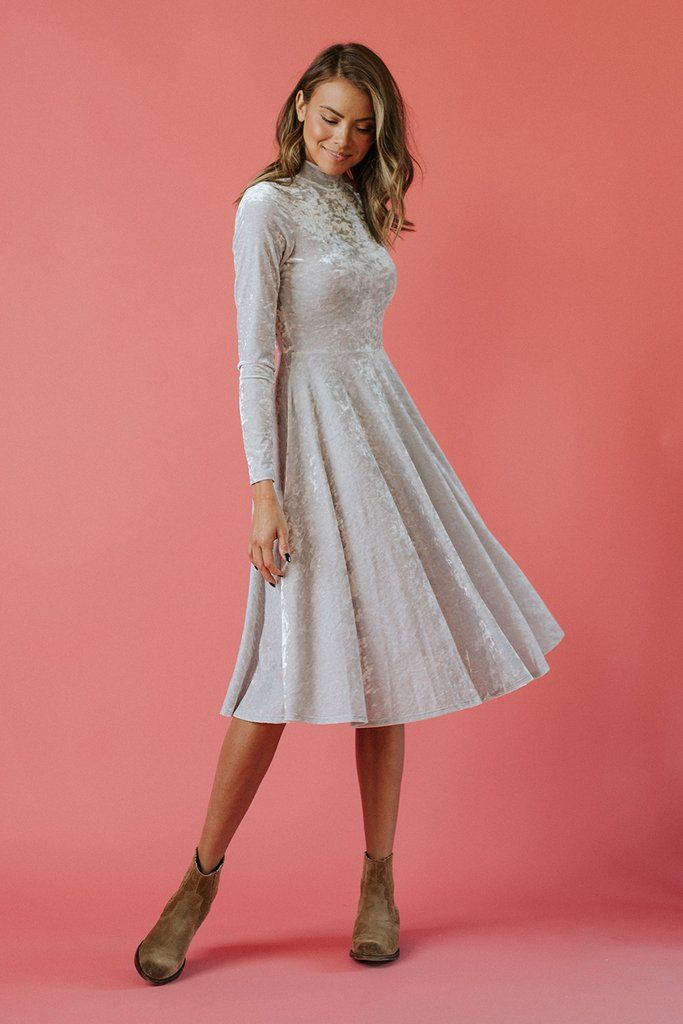 Elizabeth Dress in Crushed Velvet
