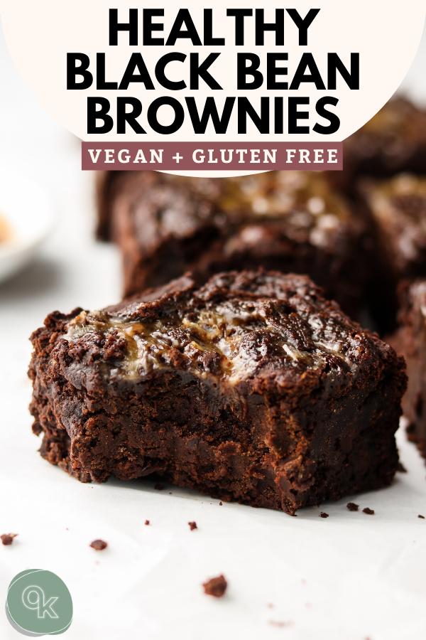 Vegan Caramel Black Bean Brownies