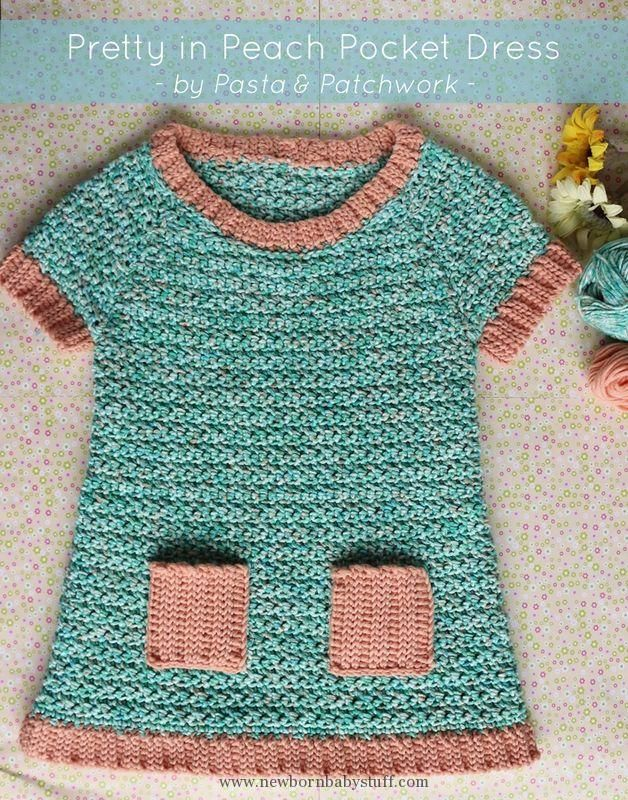 Crochet Baby Dress Pretty In Peach Pocket Dress Free Crochet