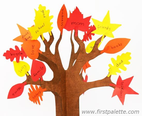 3d Paper Tree Craft Kids 39 Crafts Firstpalette Com Thankful Tree Craft Thankful Tree Paper Tree Craft