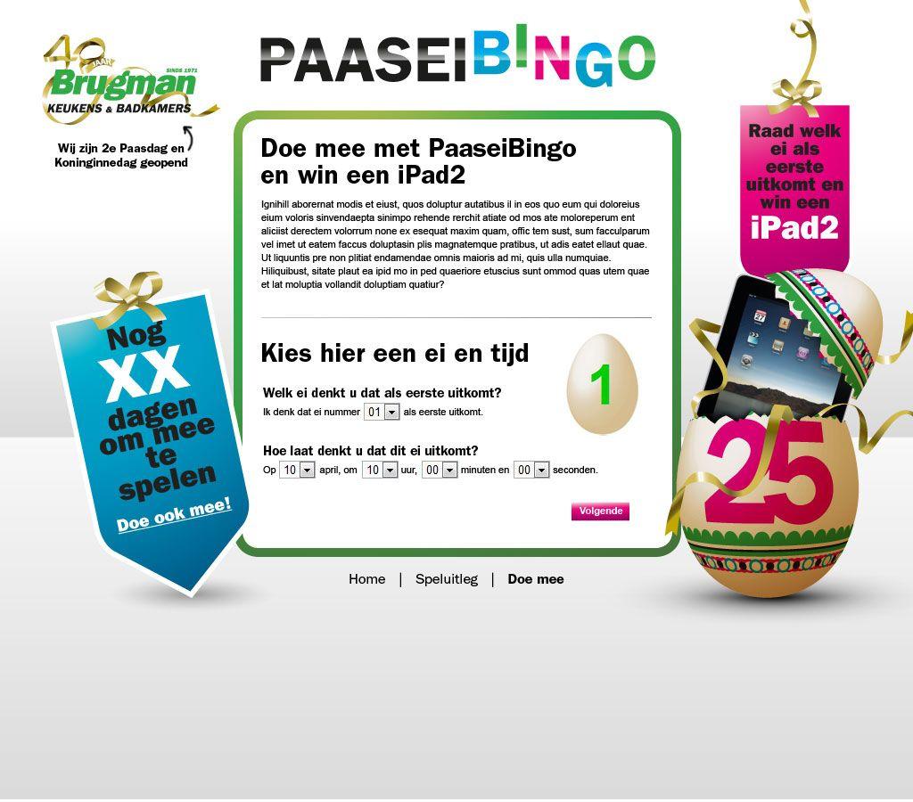 Brugman Paasei Bingo - Kies ei en tijd