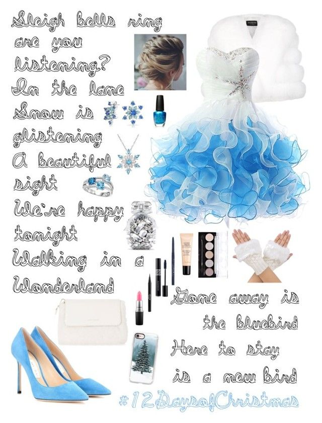 """""""🎄 Winter Wonderland 🎄 Day 10 of 12 (12/22/16)"""" by enchantingfashions ❤ liked on Polyvore featuring Harrods, Bling Jewelry, MAC Cosmetics, L.A. Colors, Stila, Christian Dior, Guerlain, OPI, Casetify and Karen Millen"""