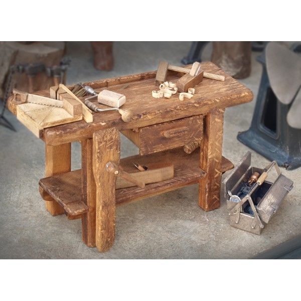 Mesas carpinteria miniatura buscar con google pesebres for Mesa de carpintero
