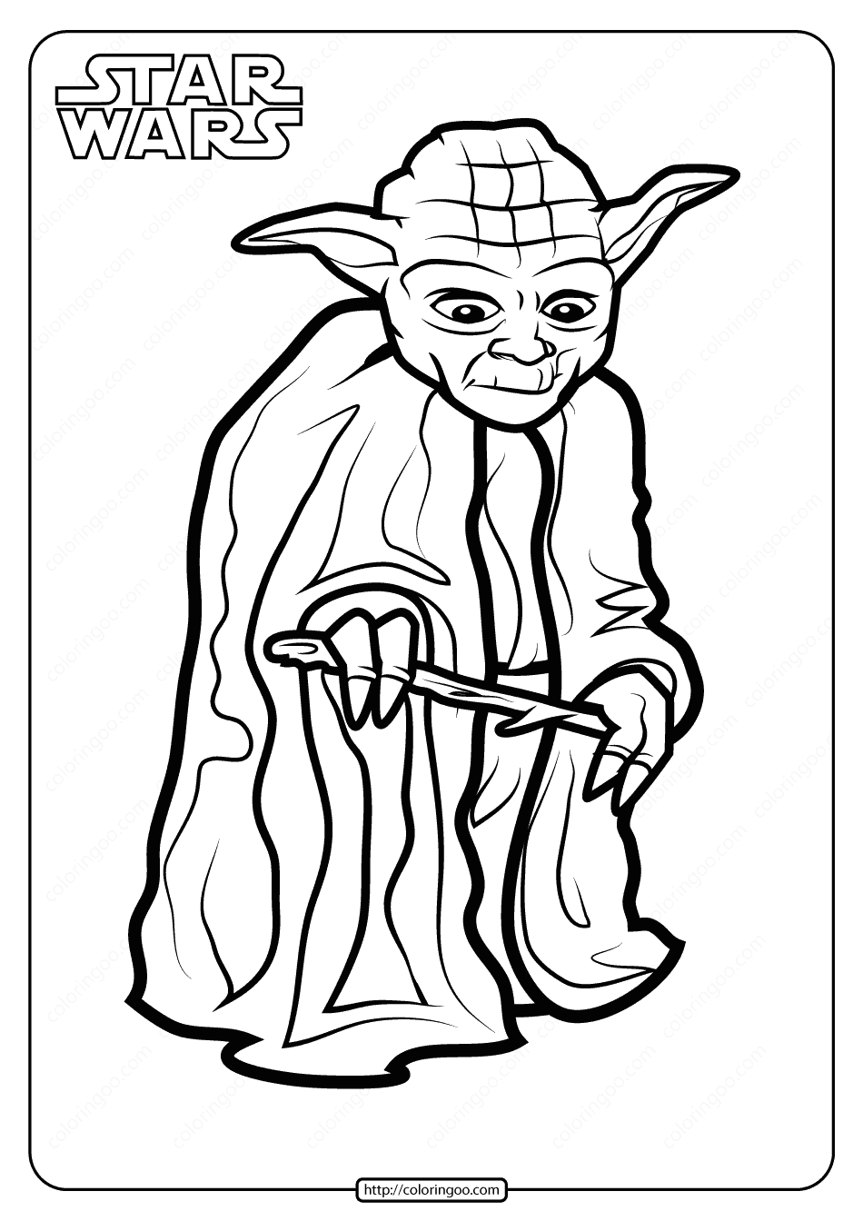 Printable Star Wars Yoda Coloring Pages Book. High quality ...