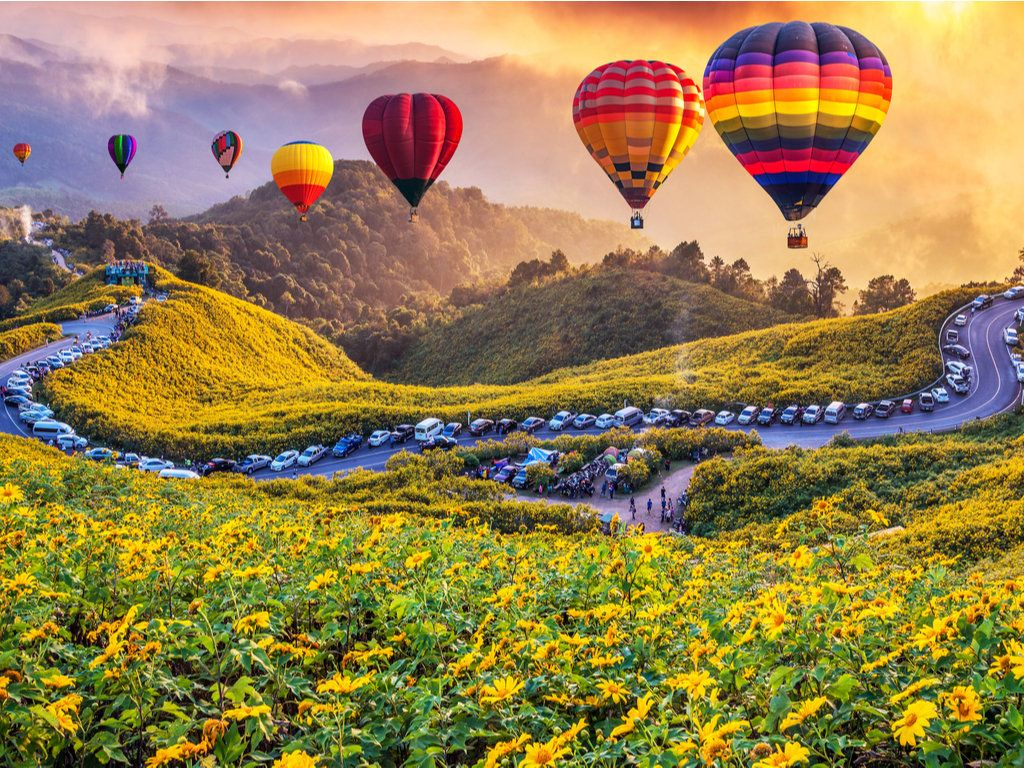 Print of HOT AIR BALLOONS Unframed Multiple Sizes Free