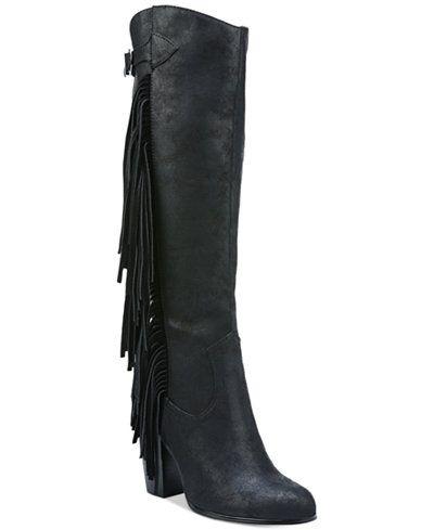 288d9de0913 Carlos by Carlos Santana Roslyn Fringe Block-Heel Tall Boots