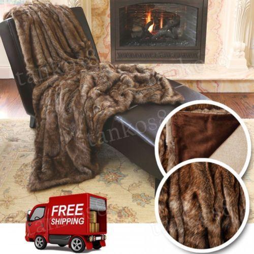 Modern-Throw-Blanket-Sofa-Faux-Fur-Coyote-Lounge-Living-Room-Bedroom-Comfort