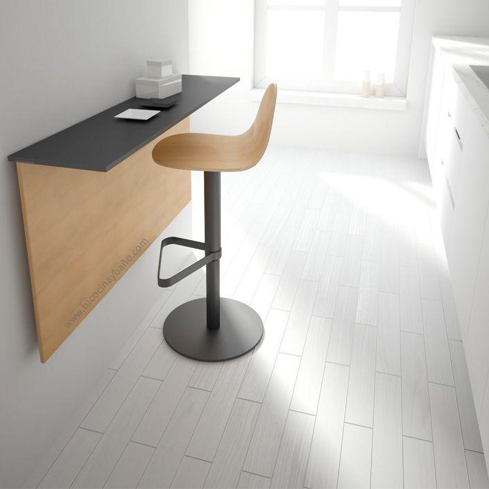 Mesa cocina pared escuadras tu cocina y ba o mesas sillas y taburetes de estilo nordico - Mesa pared cocina ...