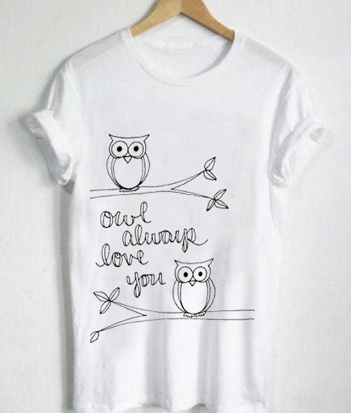 f309ff57 Unisex Premium Owl Always Love You Logo T shirt Design //Price: $13.50 //  #mensfashion